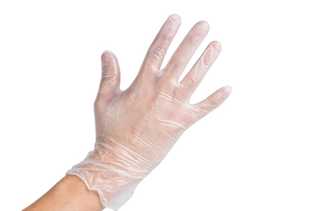 Disposable Viny Gloves Clear Powered, Powder Free Non-sterile