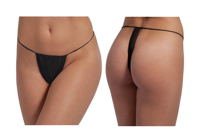 Disposable Thong font and back