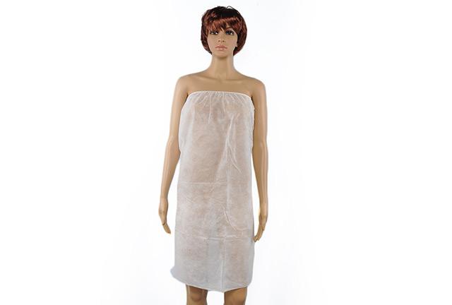 Disposable bathrobe, disposable wrap for spa