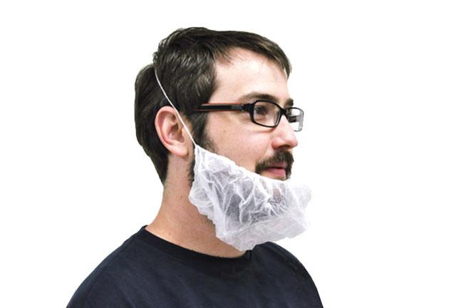 Non Woven beard_cover single elastic polypropylene, dispoosable beard cover
