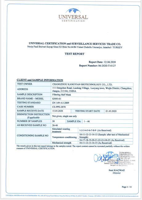 Test Report FFP2